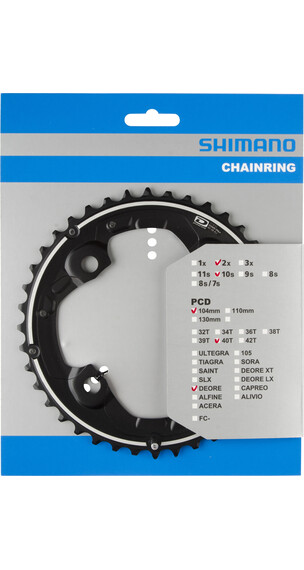Shimano Deore FC-M615 Kettenblatt 104 BCD schwarz